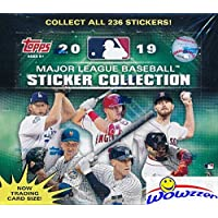 2019 Topps MLB Baseball Stickers MASSIVE Factory Sealed 50 Pack Box with 200 Brand New MINT Stickers! Look for Stickers of Mike Trout,… photo