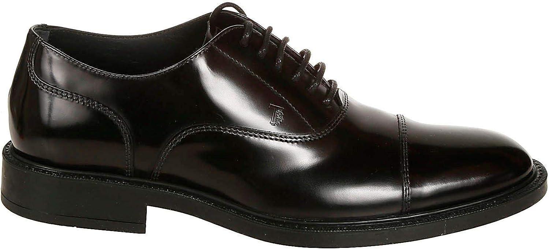 Tods Homme XXM45A00N50AKTB999 Noir Cuir Chaussures /À Lacets