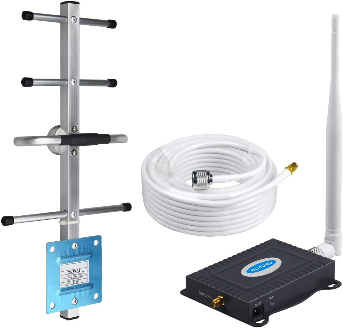 AT&T Cell Phone Signal Booster 4G LTE ATT Cell Phone Booster AT&T Cell Signal Booster Band12 /17 US Cellular Cricket T-Mobile ATT Signal Booster Amplifier Repeater Cell Extender Boost 4G Voice+Data