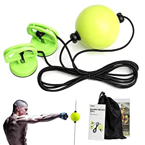 DMAR Boxing Reflex Ball Double End Boxing Speed Ball Adjustable Height PU Punch Training Fitness Sports Practical Equipment for Teenagers and Adults