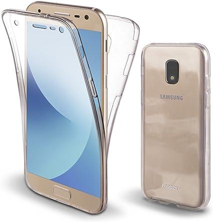 Moozy Funda 360 Grados para Samsung J3 2017 Transparente Silicona: Amazon.es: Electrónica