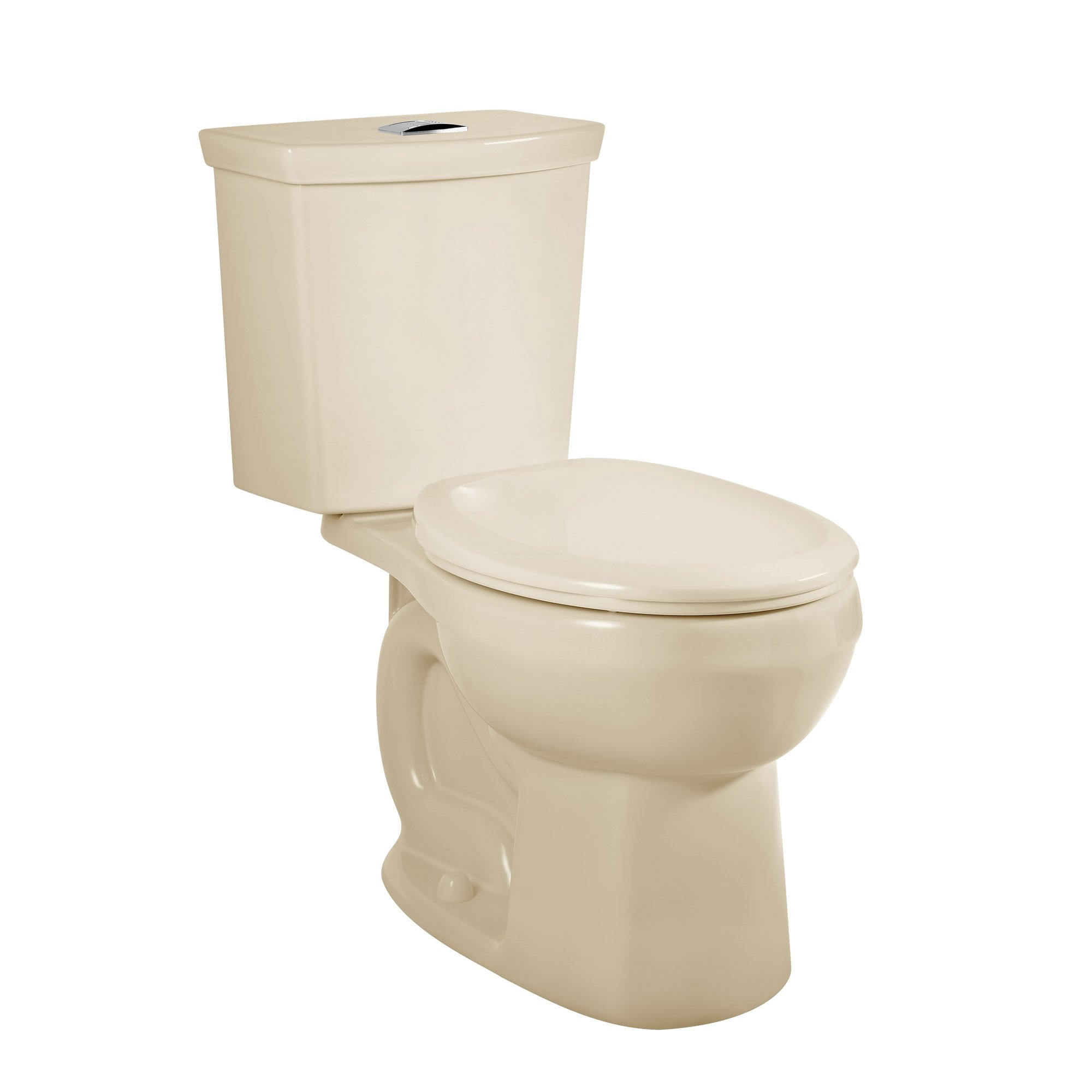 American Standard 2889518.021 H2Option Siphonic Dual Flush Normal Height Round Front Toilet with Liner, Bone, 2-Piece