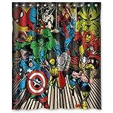 """Fashionable Bathroom Collection-Custom super heroes marvel Shower Curtain Bath Decor Curtain 60 """" x 72 """""""