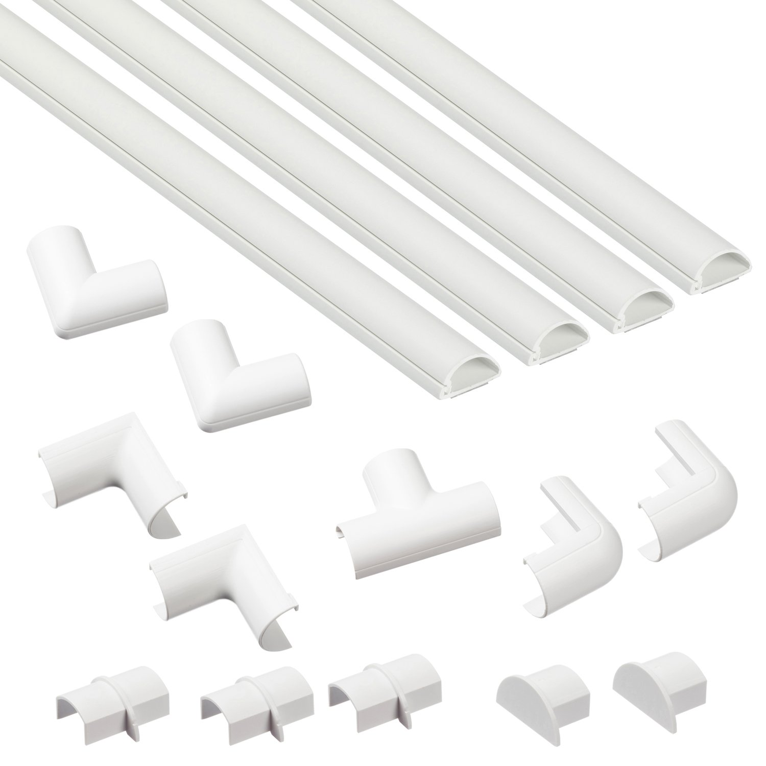 D Line Micro Cable Trunking Self Adhesive Covers Electrical Installation Wiring Pictures Electric Tidy Popular Mangement Solution 4 X 1 Meter Lengths Per Pack White