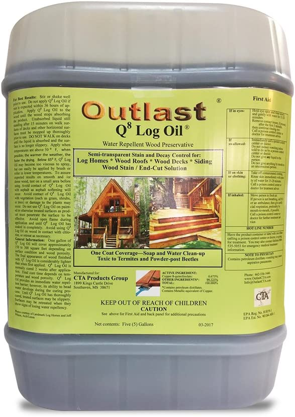 Outlast Q8 Log Oil 5 Gallon Bucket (Medium Gold)