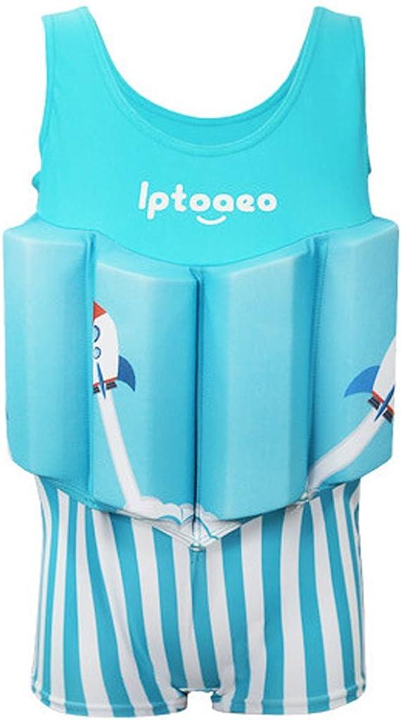 Boys Float Suit Floating Swimsuit Kids One Piece Sleeveless Buoyancy Swimwear