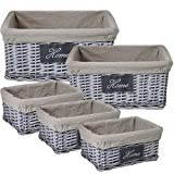 Darby Home Co Willow Utility Rattan 5 Piece Basket Set