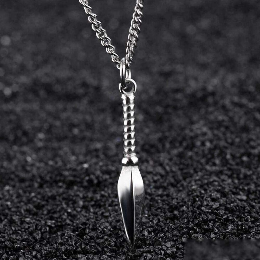 Weiwei Male Jewelry Stainless Steel Spear Shape 3 Colors Pendant Mens Necklaces /& Pendants for Male Party Jewelry Gifts