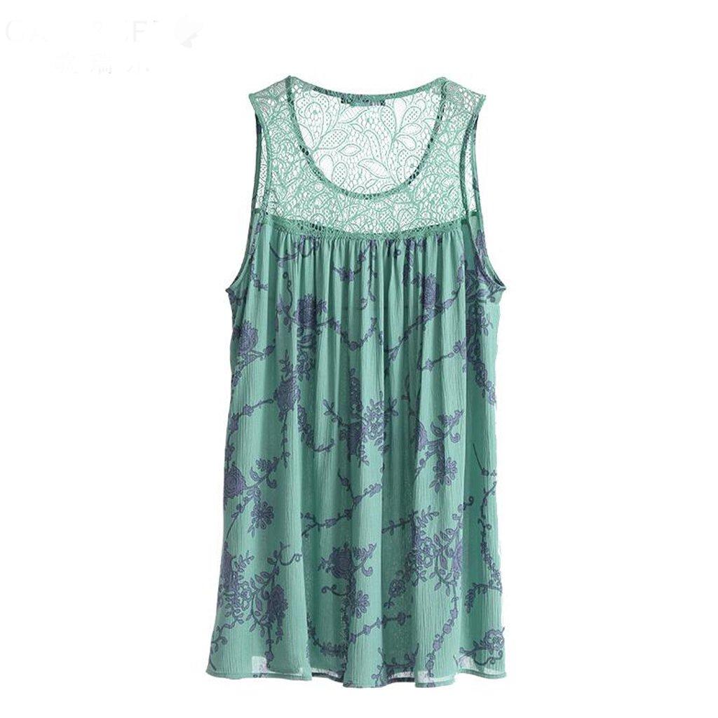 GAODUZI 夏の甘いセクシーなドレスストラップかわいい女の子の睡眠スカートパジャマホームサービス Xl xl 緑 B07DRHZS27