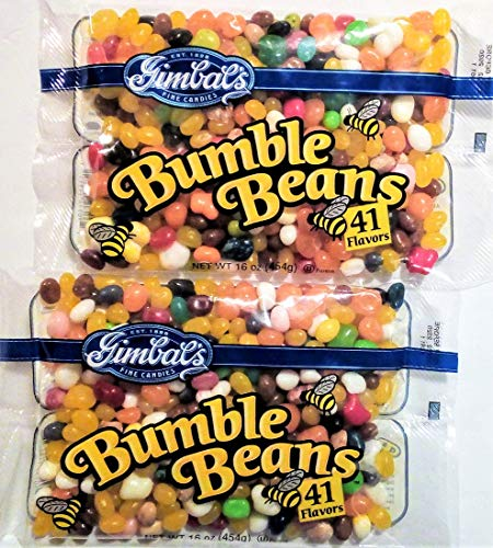 Gimbals Fine Candies Bumble Beans 41 Flavors of Jelly Beans 16 Oz Bag (Pack o...
