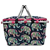 Floral Elephant Print Insulated Picnic Basket Bag Review