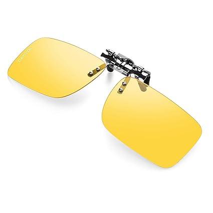 Amazon.com: Gafas de sol polarizadas con clip para hombres y ...