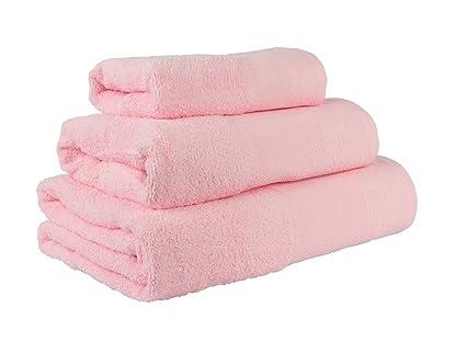 Confort Home M.T (Rosa) Juego de Toallas de baño 3 Piezas REGALITOSTV (1
