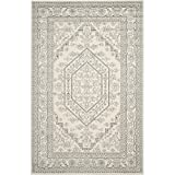 Safavieh Adirondack Collection ADR108B Ivory and Silver Oriental Vintage Medallion Area Rug (10' x 14')