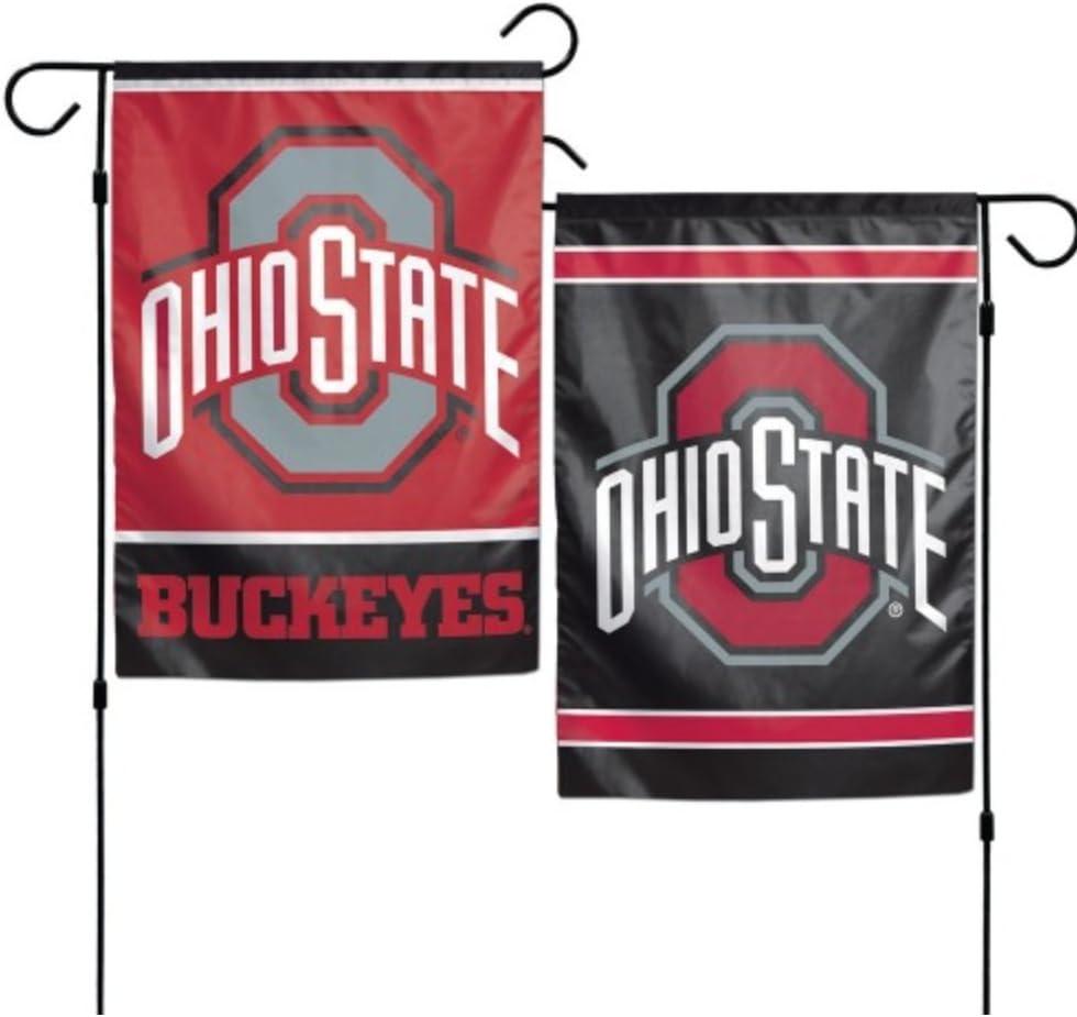 NCAA Ohio State Buckeyes 12 x 18 inch 2-Sided Garden Flag