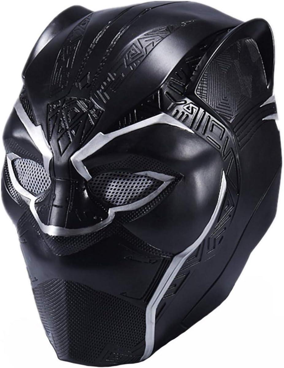 FUGUI máscara de Pantera Negra, Disfraz de Halloween, Casco ...