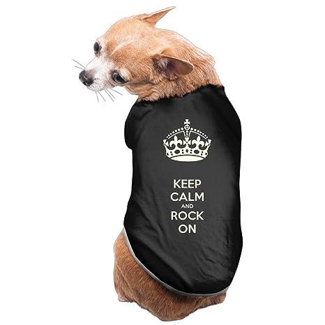Sudaderas Perro de perro ropa de perro KEEP CALM AND ROCK ON rock música banda camiseta