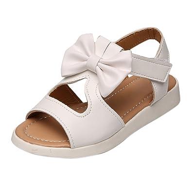 717994b1ed3 YASSON Sandales Bébé Fille Eté Enfants Chaussure Été Mode Boknow Plat  Pricness Chaussures Tongs Antidérapant Blanc22