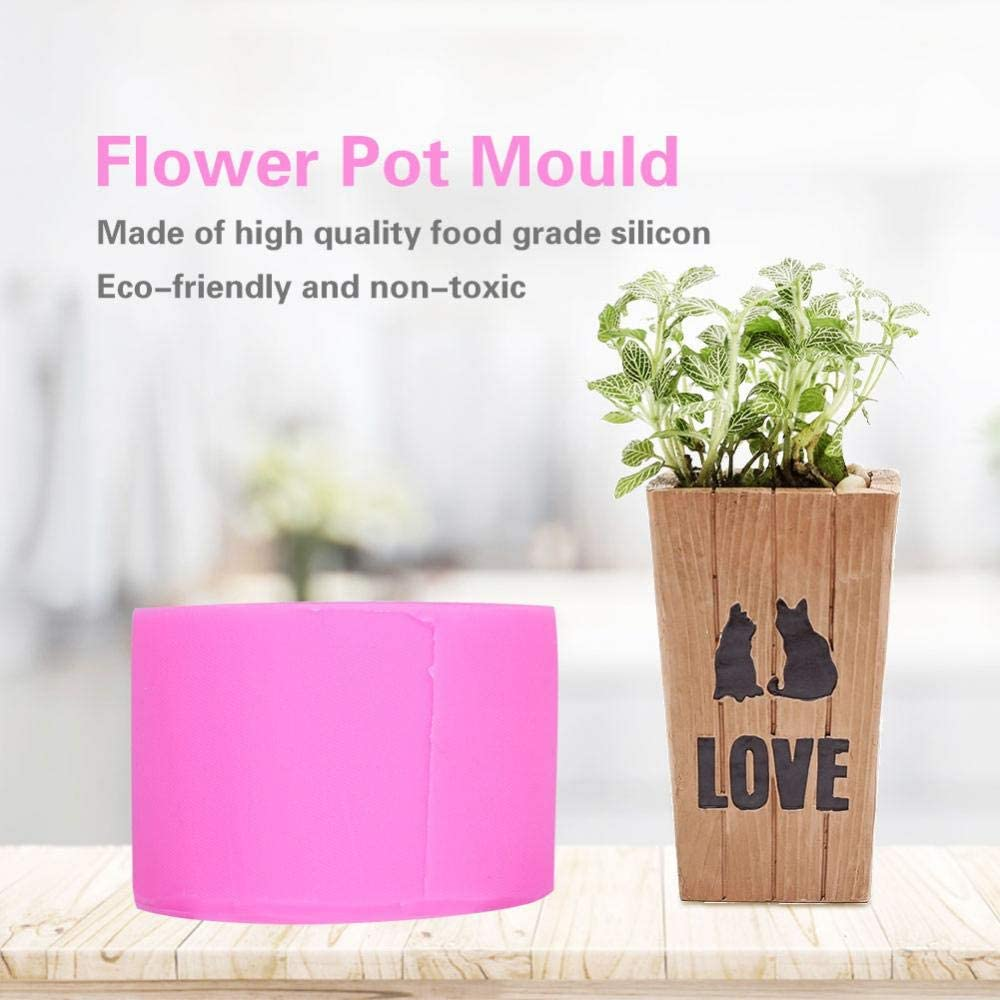 BK1145 Flower Pot Mold Silicone DIY Handmade Candle Soap Bottle Mold DIY Planter Planter Vase Ashtray Mold Tool Easy to Release and Clean