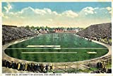 Ann Arbor, Michigan - University of Michigan; Ferry Field View (12x18 SIGNED Print Master Art Print w/ Certificate of Authenticity - Wall Decor Travel Poster)