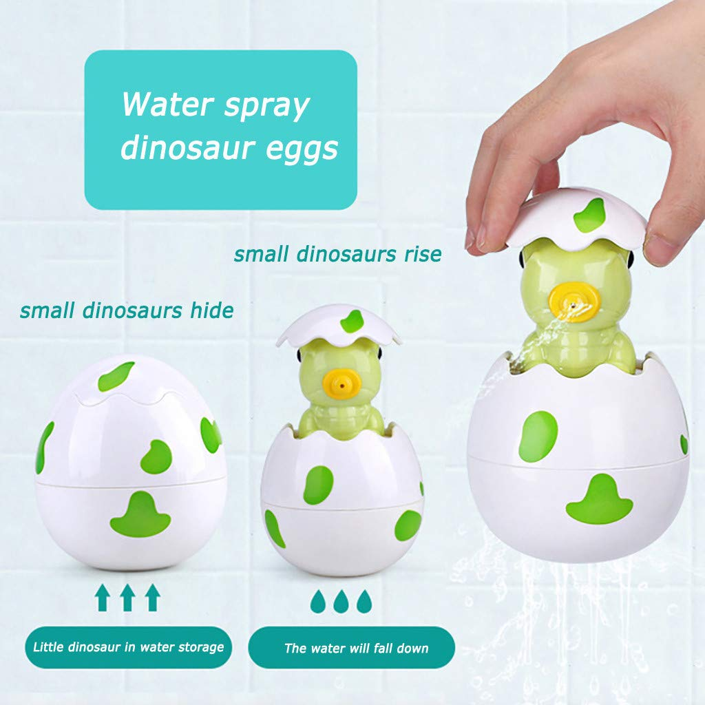 Javpoo BBaby Bathing Toy Dinosaur Egg Water Spray Baño Ducha ...