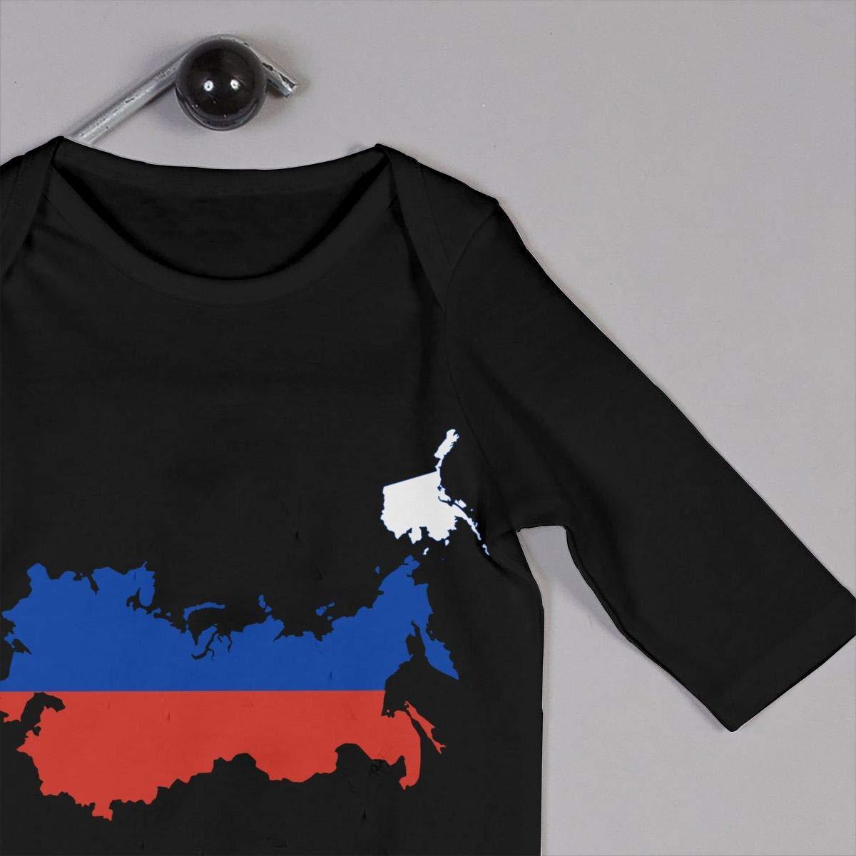 Baby Boy Girl Coverall Russia Flag Map Kid Pajamas