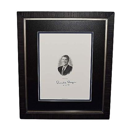 Amazon.com: AUTOGRAPHED President Ronald Reagan 1990 ...