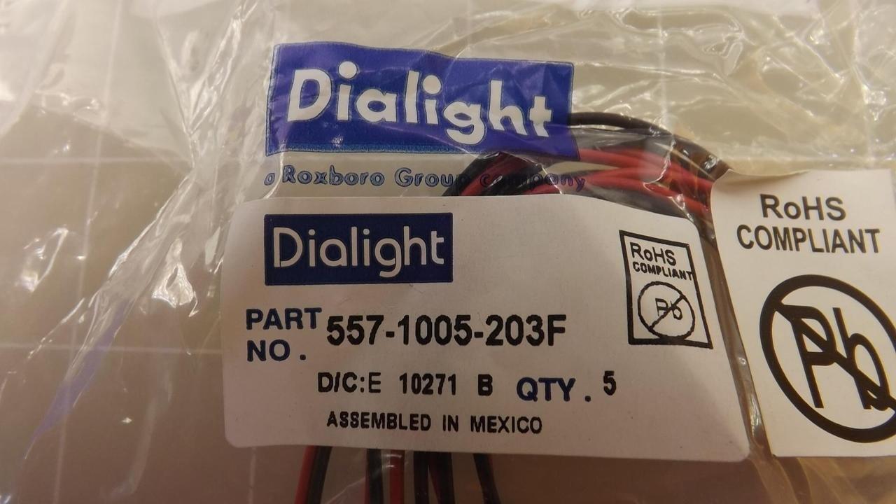 LED DIALIGHT 557-1005-203F PANEL MOUNT INDICATOR WHITE 24V 17.463MM
