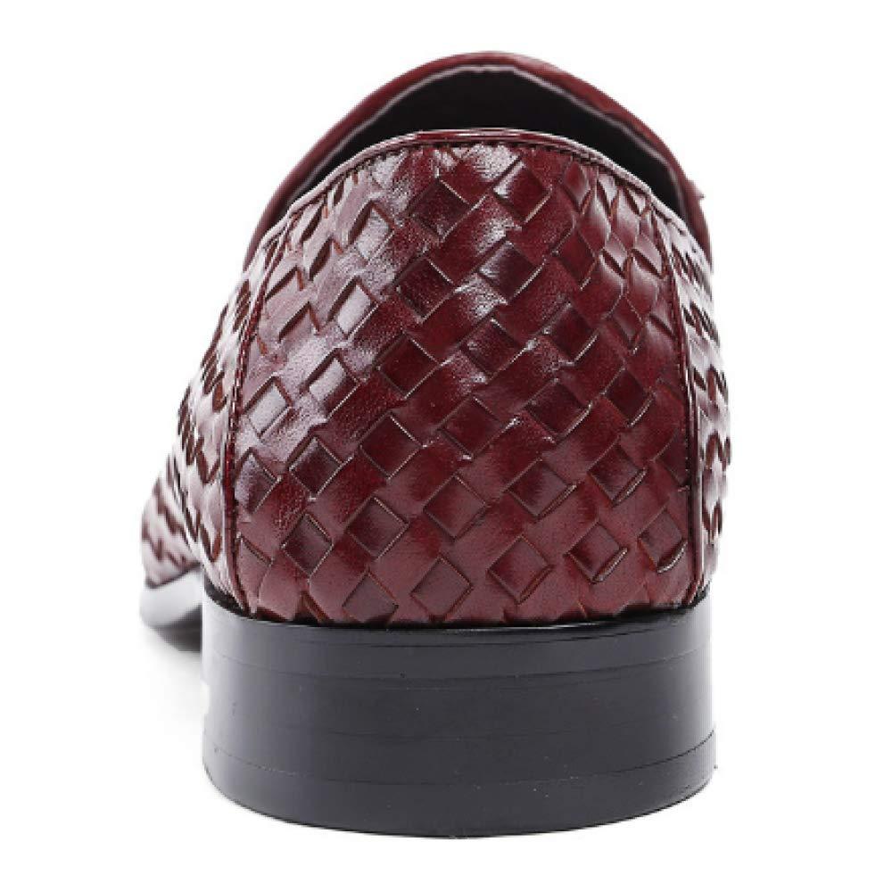 Herren Lederschuhe, Füße, Tägliche Business, Komfort, Atmungsaktiv, Mode, Tägliche Füße, Arbeit ROTdishBraun 7d4701