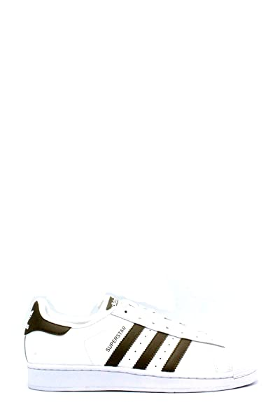 adidas Originals Superstar, Chaussures de Sport Homme - Blanc - Multicolore (Ftwbla/Azul/Negbas), 37-39 EU