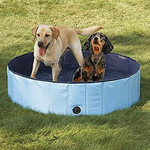 Dog Bathtub, PYRUS 63 x 11.8 Inches Collapsible Pet Bath Pools Inflatable Dog Bathtub Foldable Pets Pool Bathing Tub for Dogs or Cats (Tub For Small Pets)