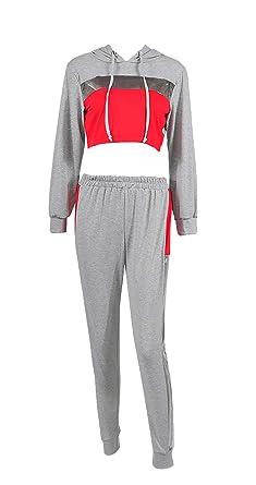 Mujer Ropa Casual Verano Splice Chandal Pantalon + Dos Piezas ...