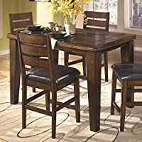 signature design by ashley d442 32 larchmont collection counter height dining room table burnished dark brown - Kitchen Counter Tables