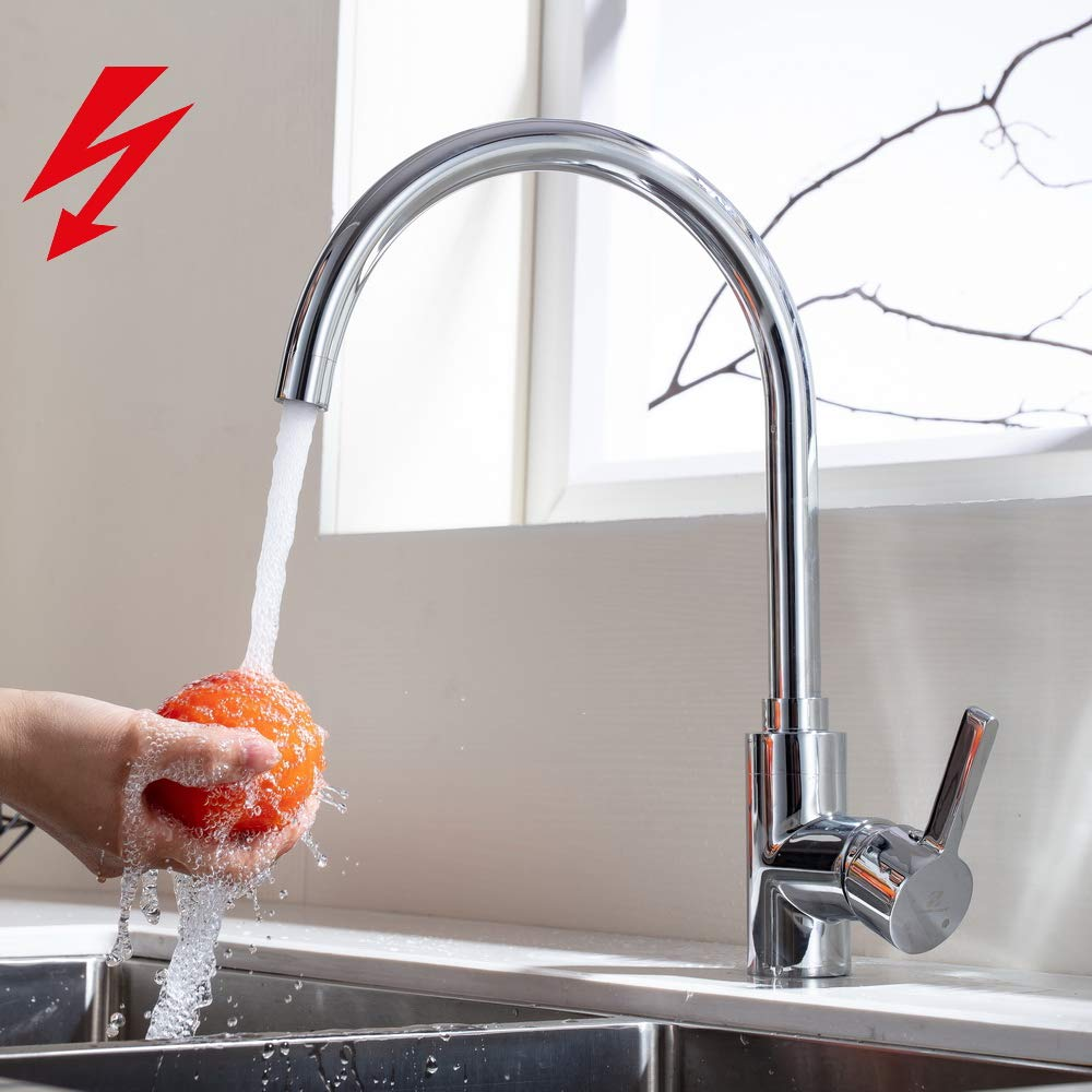 Homelody 360 Rotatable Low Pressure Kitchen Tap Brass Kitchen Sink Mixer Tap Kitchen Sink Mixer Tap Amazon Co Uk Diy Tools