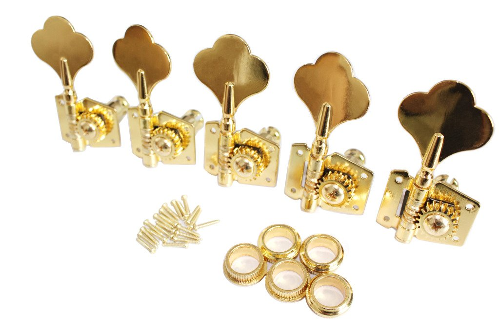 Surfing Gold Bass Guitar 5R Machine Heads Knobs Tuners Tuning Pegs