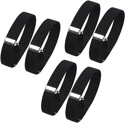 3 Pairs Shirt Sleeve Holders Anti-slip Arm Sleeve Metal Stretch Elastic Armbands
