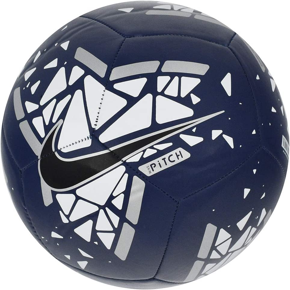Nike Pitch Balón Fútbol Unisex Adulto, Multicolor (Blue Void/White ...