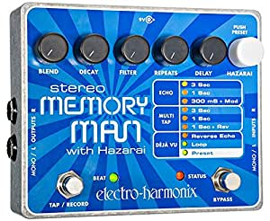 electro harmonix stereo memory man with hazarai delay looper pedal musical instruments. Black Bedroom Furniture Sets. Home Design Ideas