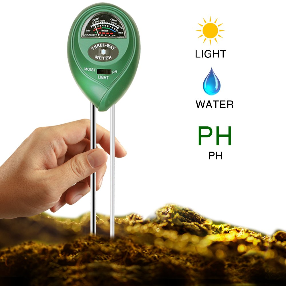 best soil ph tester - Covery 3 in 1 Soil Tester Moisture Meter, Light and PH acidity Tester, Plant Tester for Garden, Farm, Lawn, Indoor & Outdoor (No Battery needed) Easy Read Indicator