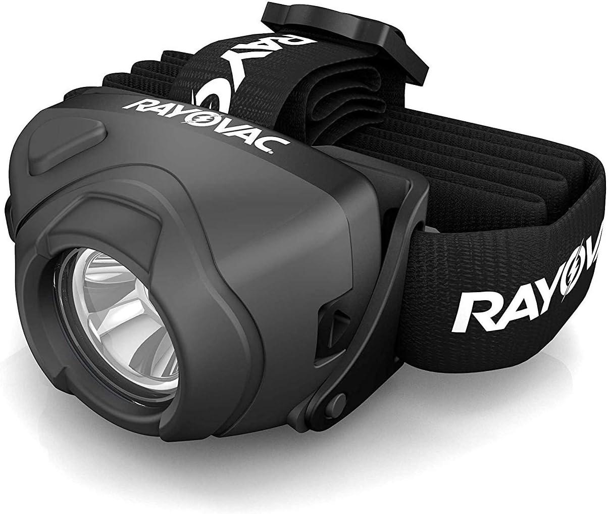 Headlamp LED Flashlight Rayovac Virtually Indestructible Headlight Safety Camp