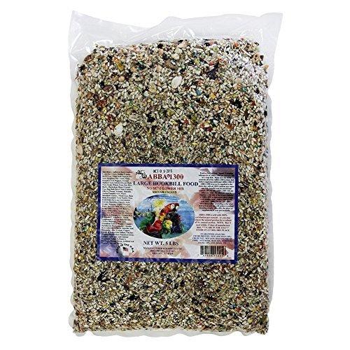 ABBA 1300 Bird Foods Large Hookbill No Sunflower Mix 5lbs ()