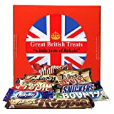 British Foods Worldwide Mars Gift Box | 12 British Chocolate Bars (Mars Bounty Maltesers Galaxy Minstrels Topic Snickers Milky Way Ripple)