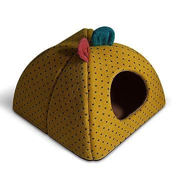 JYH Productos para Mascotas Cama para Mascotas, Perrera Grande para Perros Casa para Gatos Desmontable y Lavable Nido para Mascotas Mordedor Resistente al ...