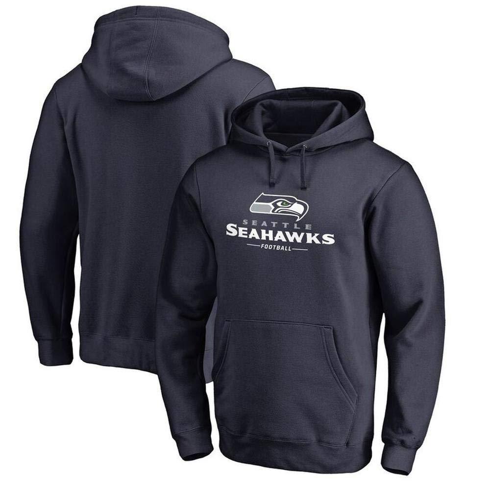 QAZ Basketball Fans Pullover Seahawks Fußball Hoodies Sport Leichtathletik Laufbekleidung Langarm T-Shirt Sportbekleidung,Black3-XXXL