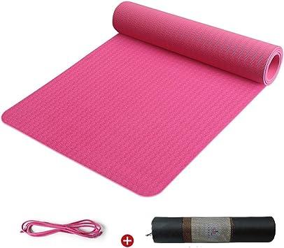 Amazon.com: WZHIJUN TPE Yoga Mat 6mm Non-Slip Fitness ...