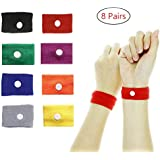 Travel Sickness Bands, ETRONG 8 Pairs Motion Sickness Bands for Adult & Children, [Natural Acupressure] Anti Nausea Wristbands Bracelet for Pregnancy/Sea/Car/Flying