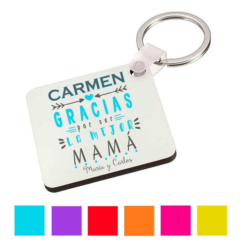 Llavero Mamá/Personalizado/Regalo Original/Cumpleaños/Dia de la Madre/Aniversario/Navidad
