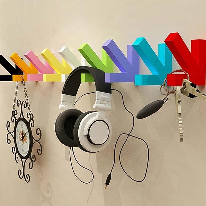 Amazon.com: calunce Fun decorativa Multicolor de madera ...