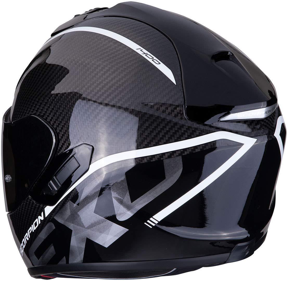 Noir//Blanc SCORPION 14-273-05-04 Casque Moto M