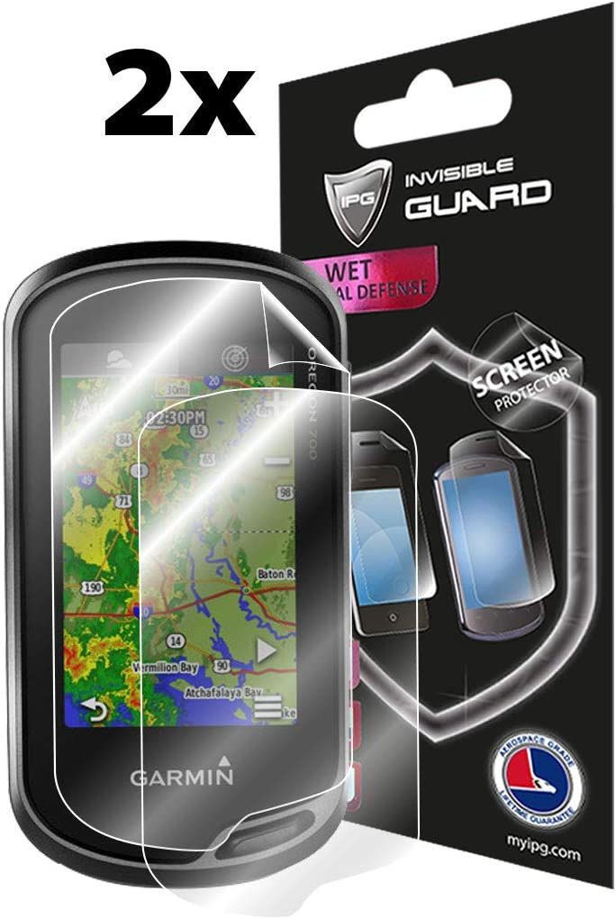 Smooth//Self-Healing//Bubble IPG Compatible with Garmin Oregon 700-750 T Screen Protector 2X Shield Ultra HD Clear Film Anti Scratch Skin Guard Lifetime Replacements Free